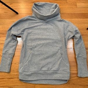 Lululemon gray cowl neck sweatshirt w zippers